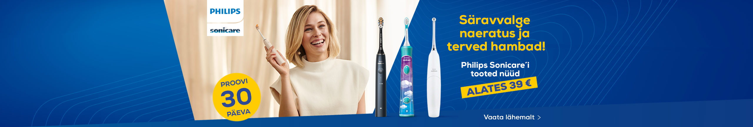 Philips Sonicare products now from 39 €