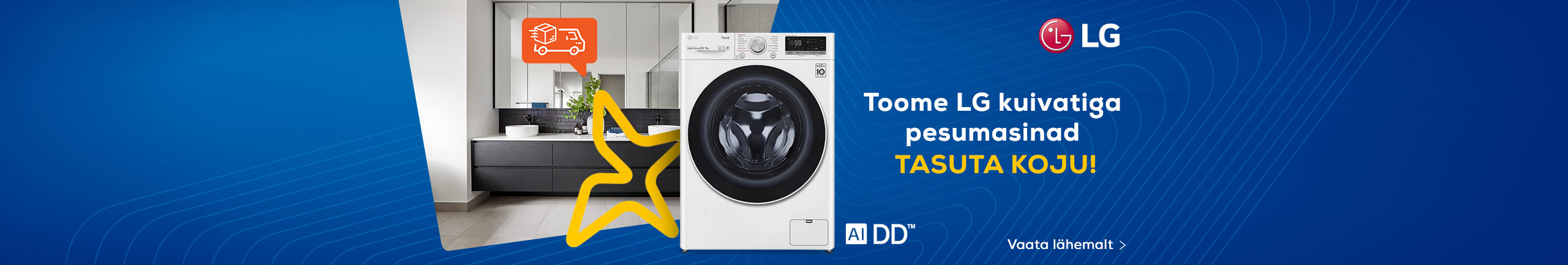 Free delivery for LG washer-dryer combos!