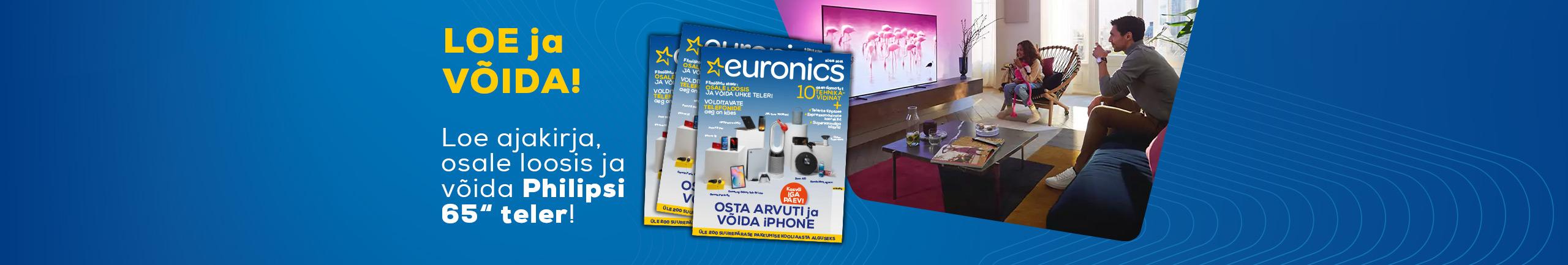 Loe Euronicsi ajakirja ja võida Philipsi teler