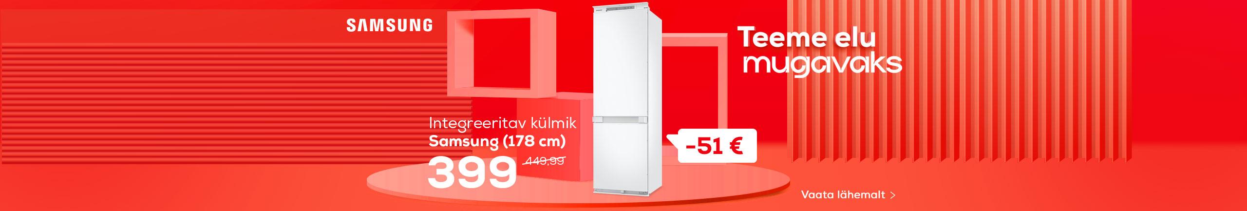 NPL Teeme elu lihtsaks, Integreeritav külmik Samsung (178 cm)