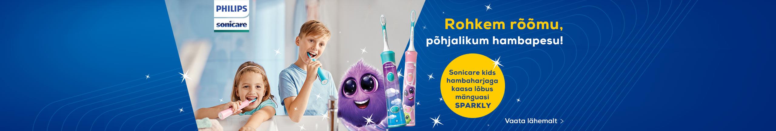 Sonicare kids hambaharjaga kaasa lõbus mänguasi Sparkly