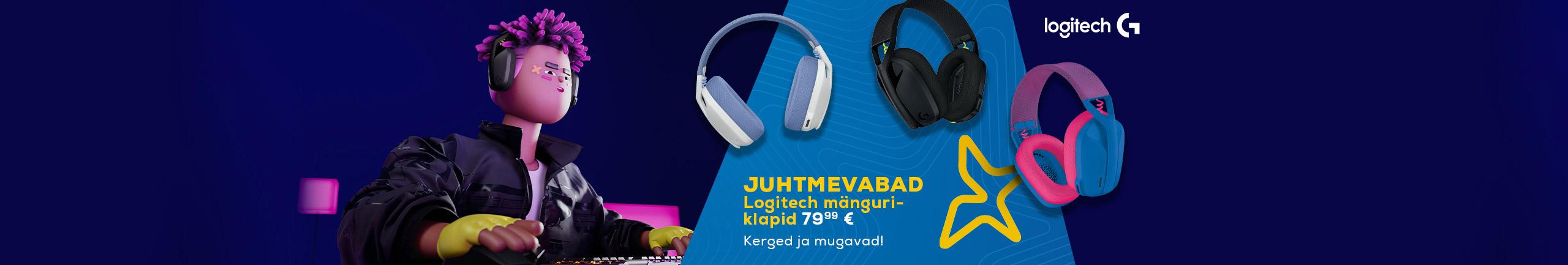 Wireless Logitech gaming headset 79,99€