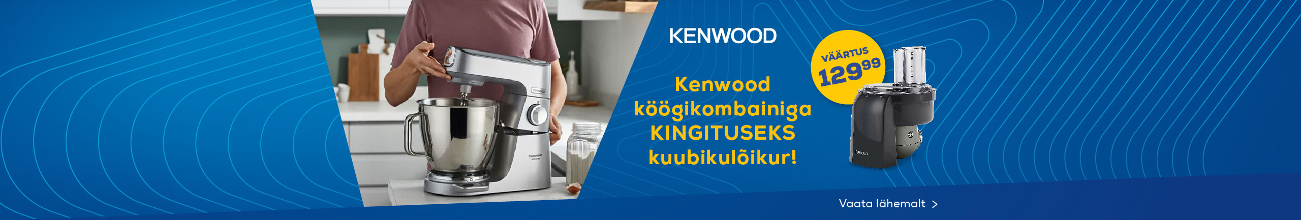 Buy Kenwood mixer and receive a cubix attachment as a gift