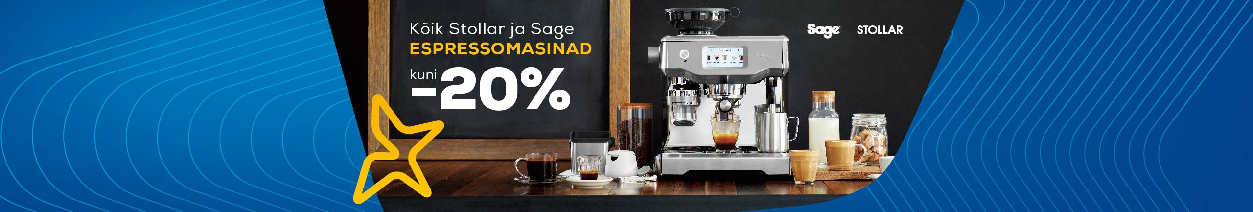 All Stollar and Sage espressomachines up to -20%