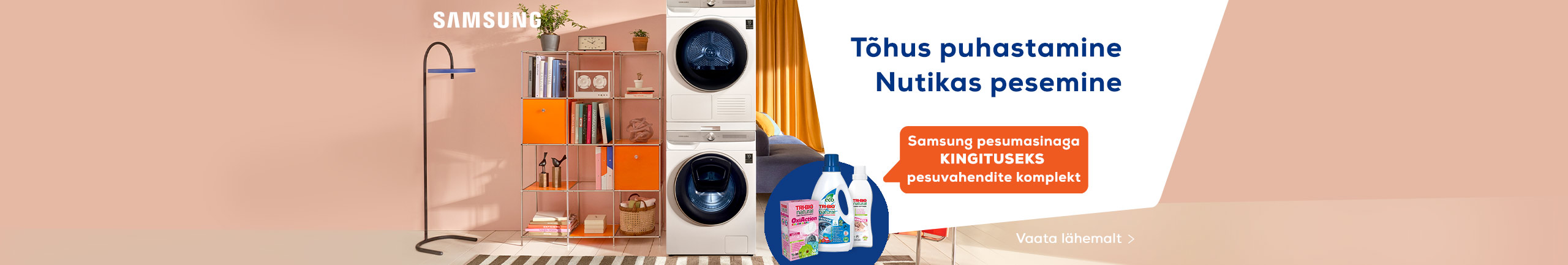 Samsung pesumasinaga kingituseks pesuvahendite komplekt