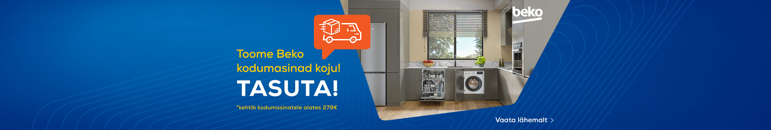 Free delivery for Beko home appliances!
