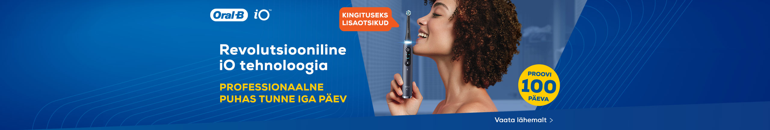 Buy Oral-B iO toothbrush and receive a complimentary gift