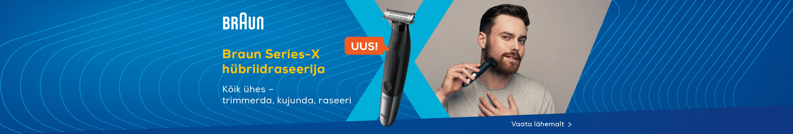 Braun Series X - trim, style and shave