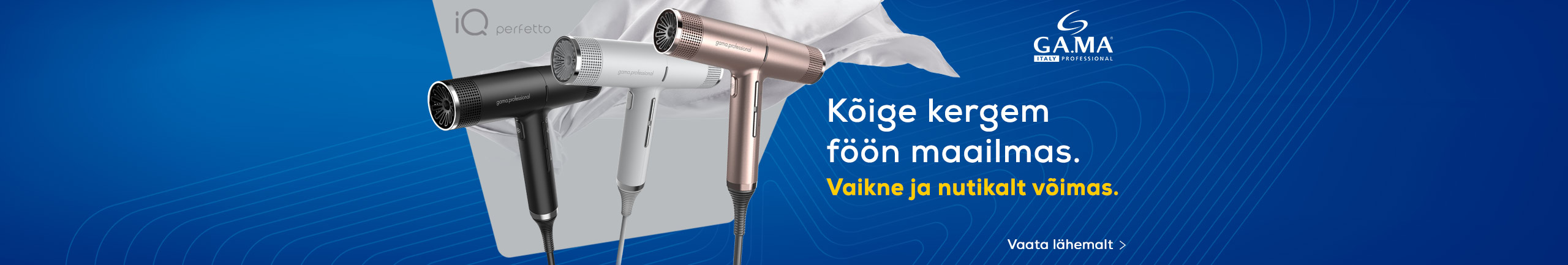 GA.MA iQ Perfetto - the lightest hairdryer in the market