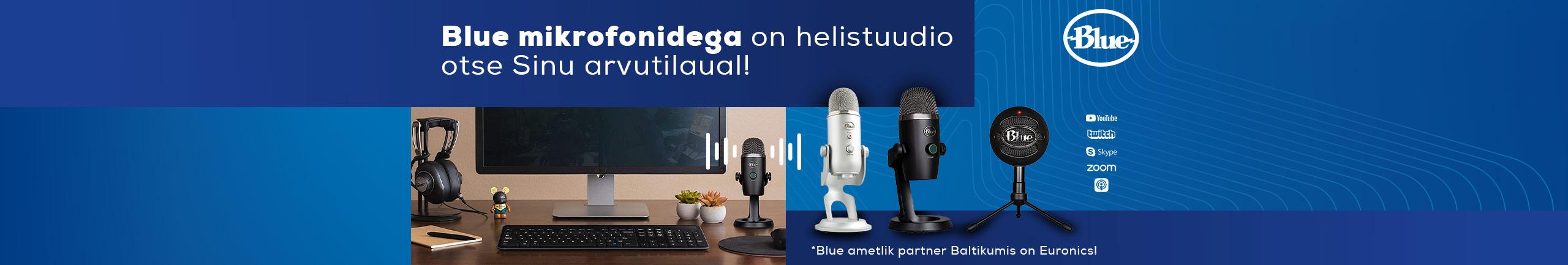 Blue mikrofonidega on helistuudio otse Sinu arvutilaual!