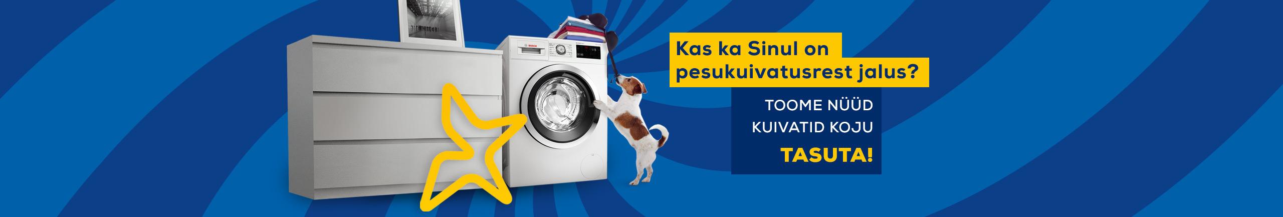 Toome pesukuivatid tasuta koju!