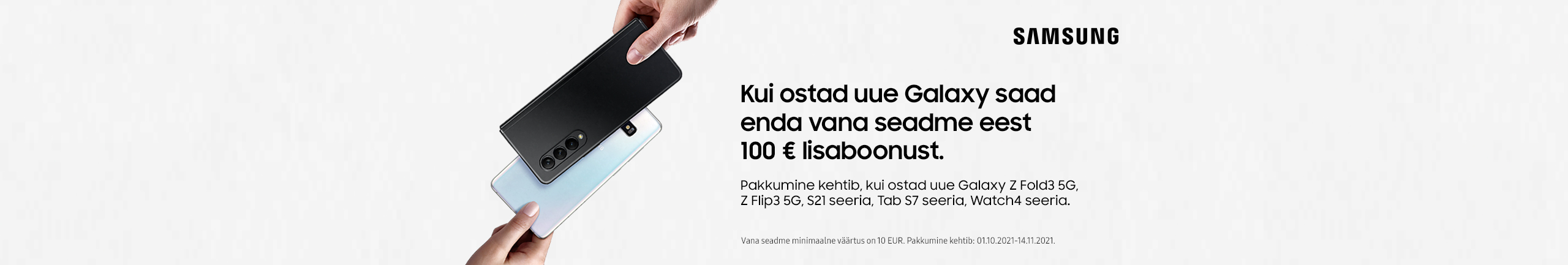 Samsung Galaxy tagasiostukampaania