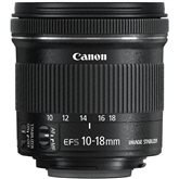 EF-S 10-18mm f/4.5-5.6 IS STM lens, Canon