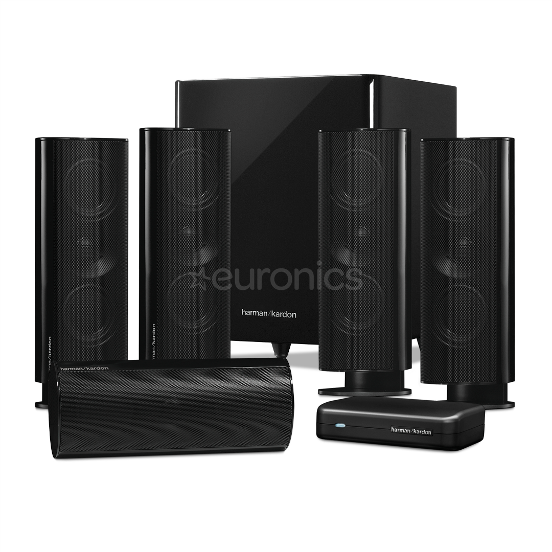 5 1 speaker set harman kardon hkts65 hkts65bq 230. Black Bedroom Furniture Sets. Home Design Ideas