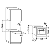 Интегрируемая микроволновая печь с грилем Whirlpool (20 л)