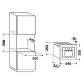 Built-in microwave Whirlpool (20 L)