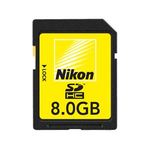 SDHC mälukaart 8 GB, Nikon