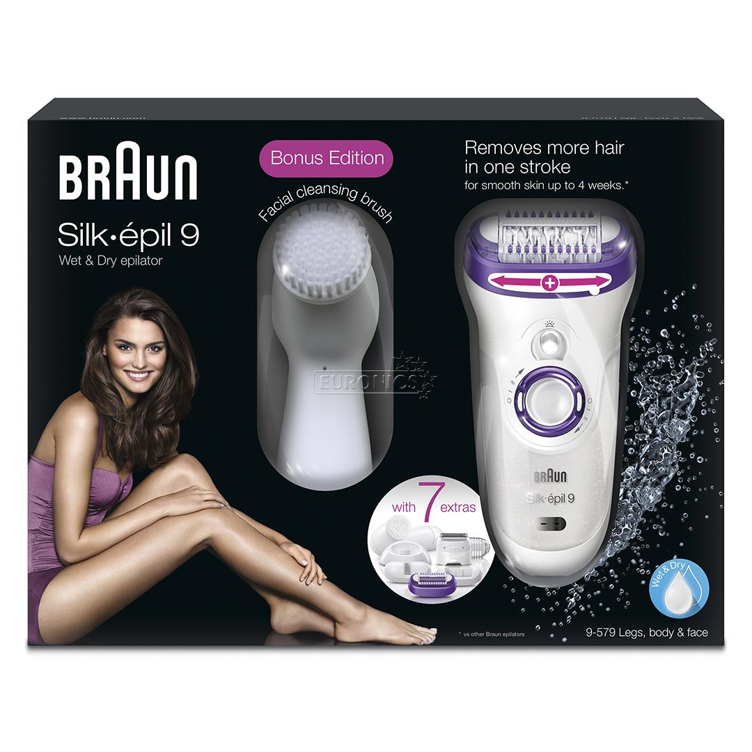 Epilator Silk 233 Pil 9 Face Cleansing Brush Braun Se9579