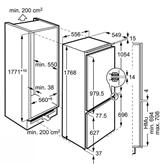 Интегрируемый холодильник Electrolux (высота ниши 178 см)