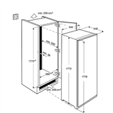Built-in freezer Electrolux (208 L)