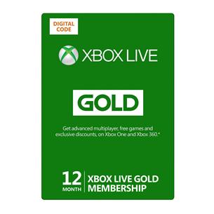 Xbox Live´i 12-kuuline [digitaalne] Gold liikmekaart