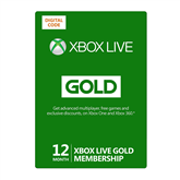Xbox Live 12 Month Gold [digital] subscription