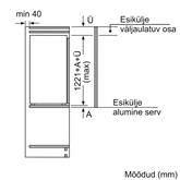Integreeritav jahekapp Bosch (122,5 cm)