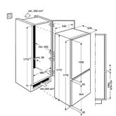 Integreeritav külmik, Electrolux (178cm)