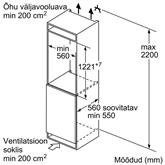 Integreeritav külmik Bosch (122,5 cm)