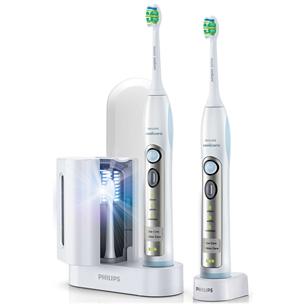 Elektriline hambahari Flexcare + hambaharjapeade UV-puhasti, Philips