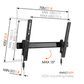 TV wall mount Vogels W50810 (40-65)