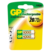 Rechargeable batteries GP 2x AAA (1000 mAh)