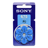 Batteries Hearing Aid 675, Sony / 6 psc