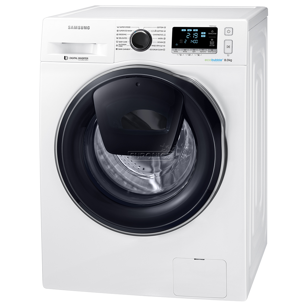 Washing Machine Samsung  8kg   Ww80k6414qw  Le