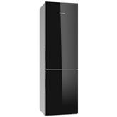 Külmik NoFrost, Miele / kõrgus: 201 cm / must klaas