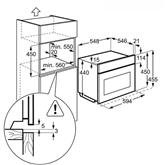 Integreeritav kompaktahi mikrolaineahjuga, Electrolux / ahju maht: 43 L