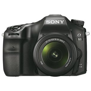 Peegelkaamera Sony α68 + objektiiv DT 18–55mm F3.5–5.6 SAM II