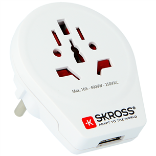 Reisiadapter World to Europe USB, SKROSS