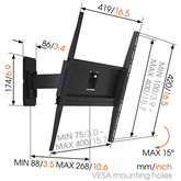 TV Wall Mount Vogels MA3030 (32-55)