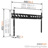TV Wall Mount Vogels MA4000 (40-80)