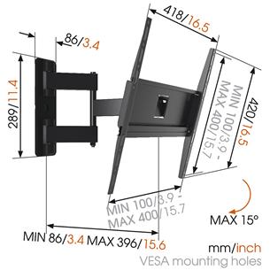 """Настенное крепление для телевизора MA3040 (32-55""""), Vogel's"""