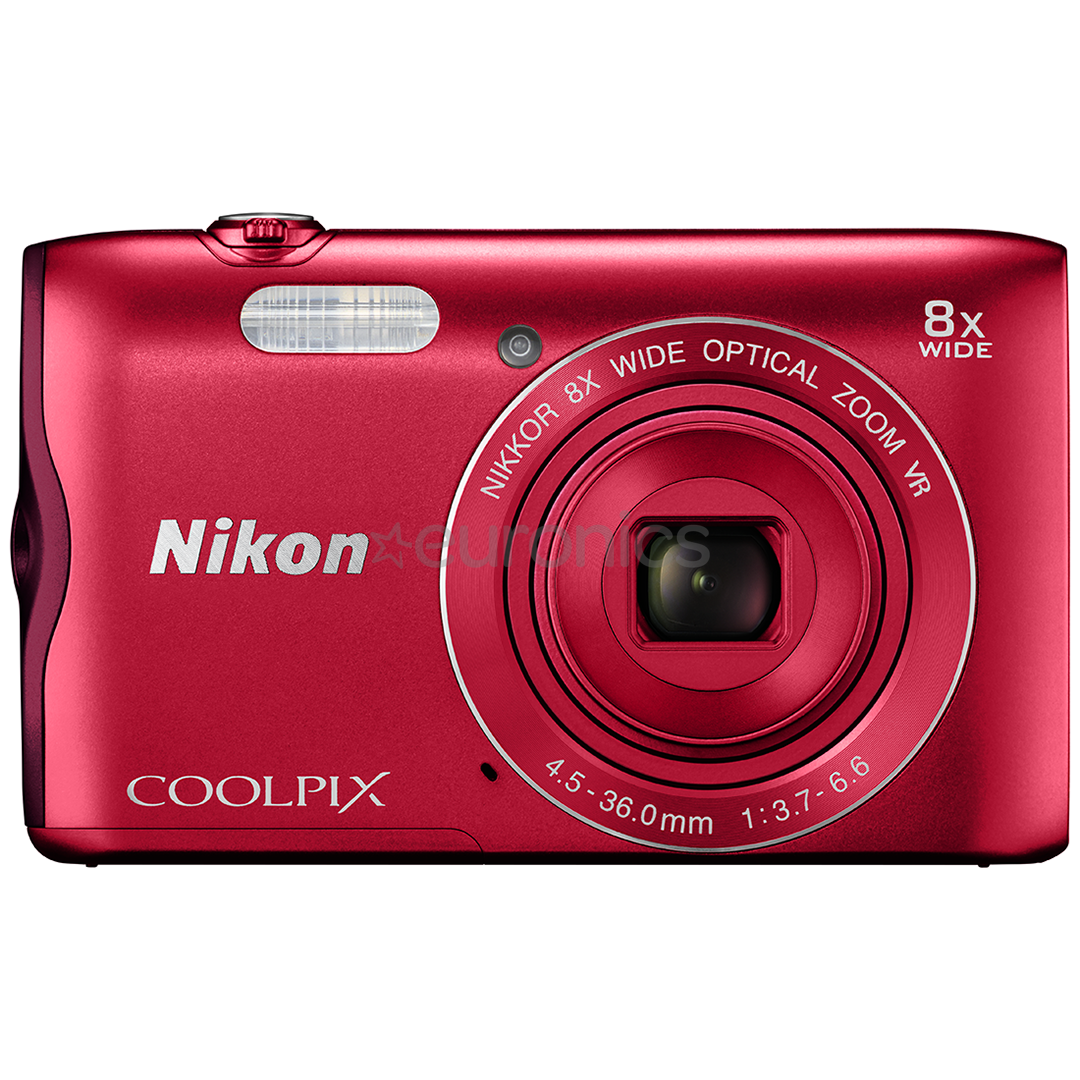 digital camera coolpix a300 nikon coolpixa300red. Black Bedroom Furniture Sets. Home Design Ideas