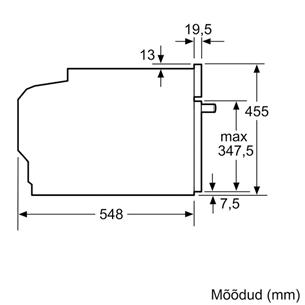 Integreeritav kompaktahi Bosch (mikrolainefunktsiooniga)