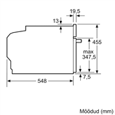 Built - in oven, Bosch / capacity: 45 L