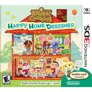 3DS mäng Animal Crossing: Happy Home Designer