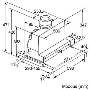 Integreeritav õhupuhasti Bosch (740 m³/h)