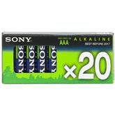 20 x AAA patareid Alkaline, Sony