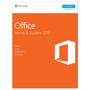 Software for Windows Office Home & Student 2016, Microsoft / EST