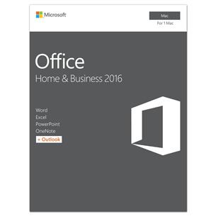 Kontoritarkvara Macile Office Home & Business 2016, Microsoft / ENG