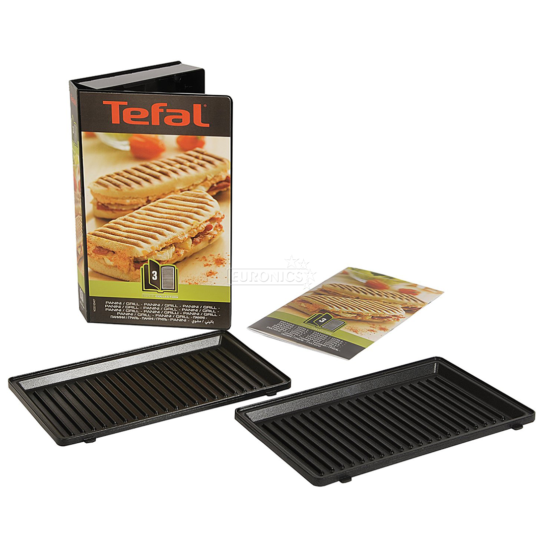 grilled panini set tefal snack collection xa800312. Black Bedroom Furniture Sets. Home Design Ideas